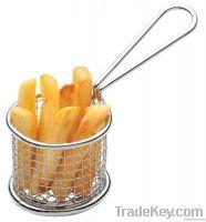 Mini Round Stainless Steel Mesh Fry Basket