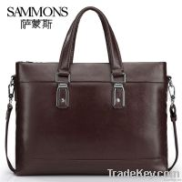 100% Genuine leather men business handbag, Shoulder Bag B1033