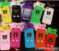 Version 3 d cartoon phone sets, momo iphone5G momo bear bear silica ge