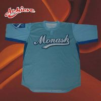 Comfortable sublimation baseball jersey with customized design
