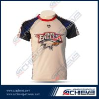 Customized sublimation 100%polyester t shirts for team/club