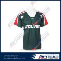 100%polyester T shirt uniform with full sublimation