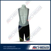 100%polyesster cycling bib shorts with padded