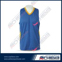 Customized basketball jersey with your logo and number