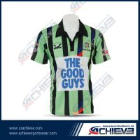 Custom design short sleeve soccer unifroms