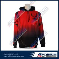 Customized sublimation polyester hoodie wears wholesale