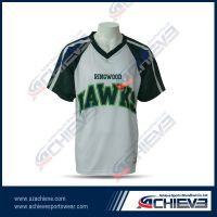 Custom long sleeves soccer uniform with 100%polyester
