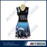 customized 100% polyester netball dress