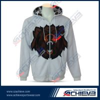 Fashion blue hoodies with fully sublimation for men