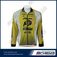 Custom 100% polyester sublimated cycling jersey