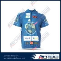 Sublimation team bicycling  wears with 100%polyester