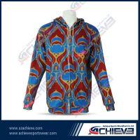 Sublimation windproof warm sports hoodie wear
