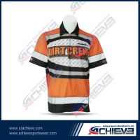OEM serves full sublimation polo jersey