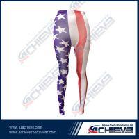 Fancy colors custom printing legging, rainbow ladies' leggings