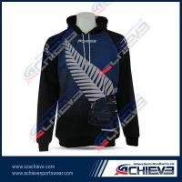 Men's zipper sublimation hoody wear with custom design
