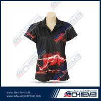 Custom made sublimation polo shirt