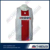 Custom design polyester running singlet wholesale