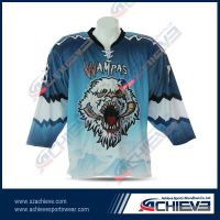 Dry sublimation 100%polyester ice hockey jersey