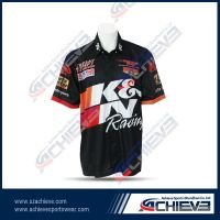 High quality customized sublimated motor sports jersey