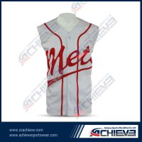 High quality sublimation baseball jersey with custom made design