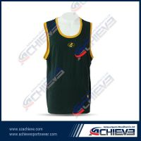 Sublimation printing 100%polyester basketball wear
