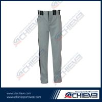Customzied professional baseball pants with 100%polyester
