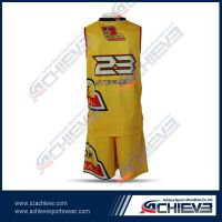 100% polyester sublimated basketball jersey
