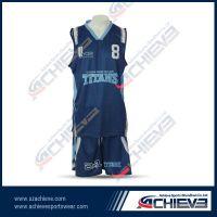 sublimation high quality basketball uniform