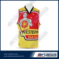 100%polyester sublimation basketball jersey