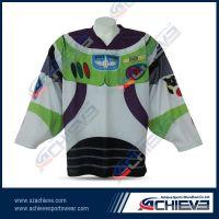 100%polyester fully sublimated ice hockey shirts