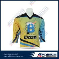 Wholesale high quality 100%polyester ice hockey jersey