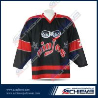 Hot selling sublimated ice hockey shirts with your own design