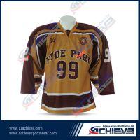 Sublimation high quality ice hockey wear with custom design