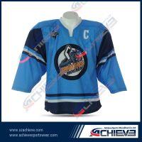 custom sublimation ice hockey with 100% polyester