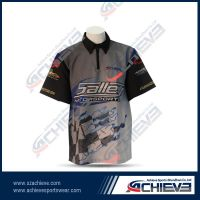 100%polyester racing shirts with custom deisgn