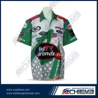 2013 new sublimation racing shirt with custom design