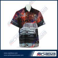 100%polyester custom design long sleeve racing shirt