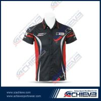 100%polyester sublimation racing shirts
