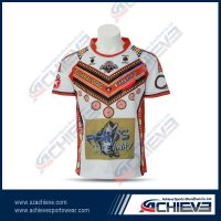 Fashion Red rugby jersey with 100%polyester