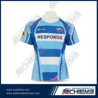 Custom rugby jersey with 100% polyeter