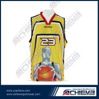 sublimation print basketball uniform