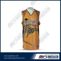 Fashion Customed Multi-color Basketball Jersey