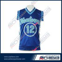 Sublimation custom team  basketball jersey