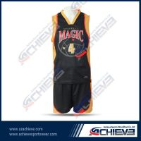 Custom made reversible basketball jersey
