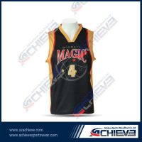 High quality wholesale sublimation basketball jersey