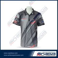 100% polyester sublimation polo shirt