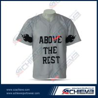 High quality sublimation baseball wear