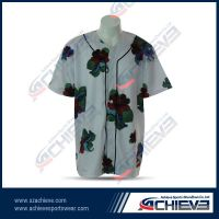 2013 Hot sale sublimation baseball jersey with 100%polyester