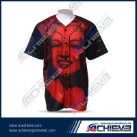Reversible baseball jerseys with 100%polyester full sublimate printing