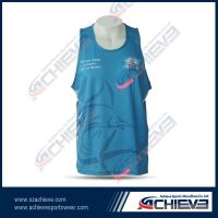 Quick dry sublimation basketball top sports vest